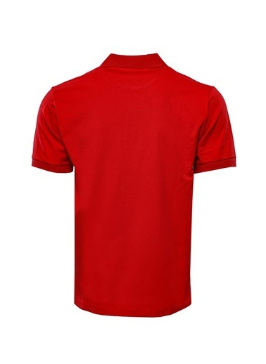 Wessi Erkek Slim Fit Polo Yaka Düz Tişört Kırmızı